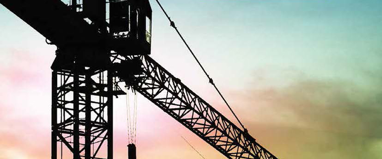 Construction - crane on sunset