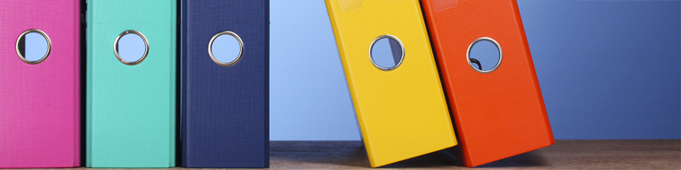 coloured box folders