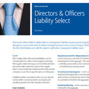 PDF cover for Directors & Officers Liability Select