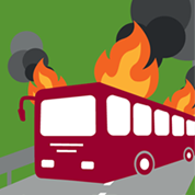 Bus fire fraud