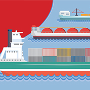 Mega container ships