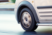 Motor Fleet Claims - van wheel on road