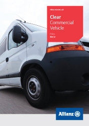 Clear Commercial Vehicle Insurance policy cover