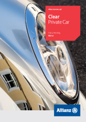 Clear Private Car Insurance policy cover