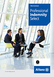 PDF cover for Professional Indemnity Select